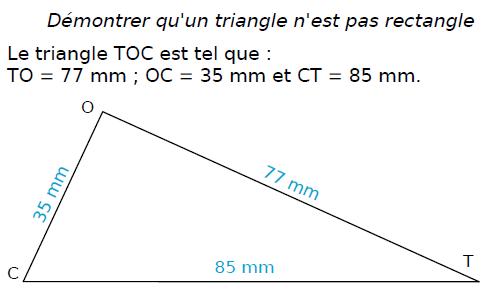 Réciproque du théorème de Pythagore : exercices en 4ème.