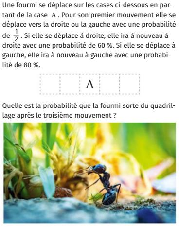 Déplacement d'une fourmi sur des cases : exercices en 1ère S.