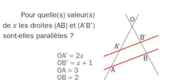 Réciproque et calcul littéral : exercices en 3ème.