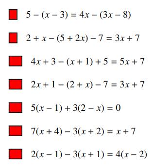 Des équations à résoudre : exercices en 4ème.