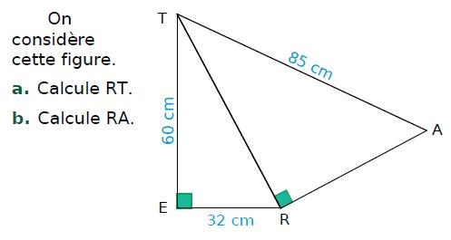 Calculs de longueurs dans deux triangles : exercices en 4ème.