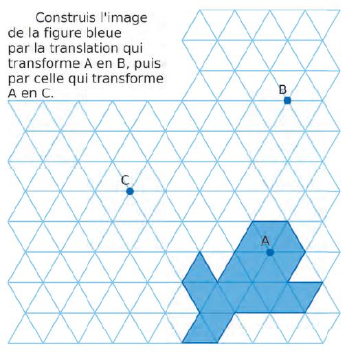 Quadrillage et transformation : exercices en 4ème.