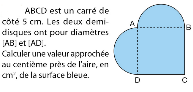 Calculer l'aire : exercices en 5ème.