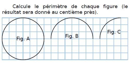 Calculer le périmètre de chaque figure : exercices en CM2.