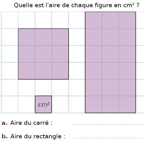 Quelle est l'aire de chaque figure ? : exercices en CM2.