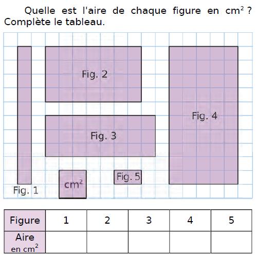 Calculer l'aire de ces figures : exercices en CM2.