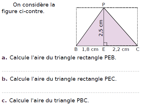 Figure composée de triangles : exercices en CM2.