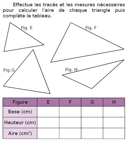 Effectuer des tracés et des mesures : exercices en CM2.