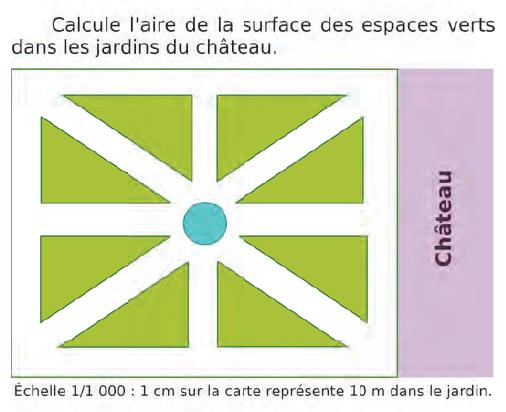 Surface des espaces verts : exercices en CM2.