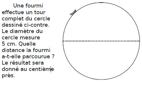 Une fourmi et le tour d'un cercle : exercices en CM2.