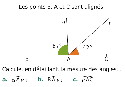 Calculer la mesure des angles : exercices en 6ème.