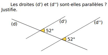 Démontrer que les droites sont parallèles : exercices en 5ème.