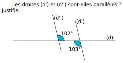 Droites parallèles ou non : exercices en 5ème.