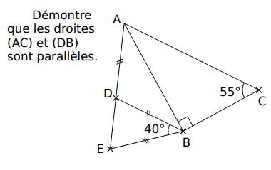 Démontrer que des droites sont parallèles : exercices en 5ème.