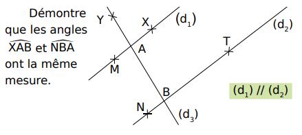 Démontrer que les angles ont la même mesure : exercices en 5ème.