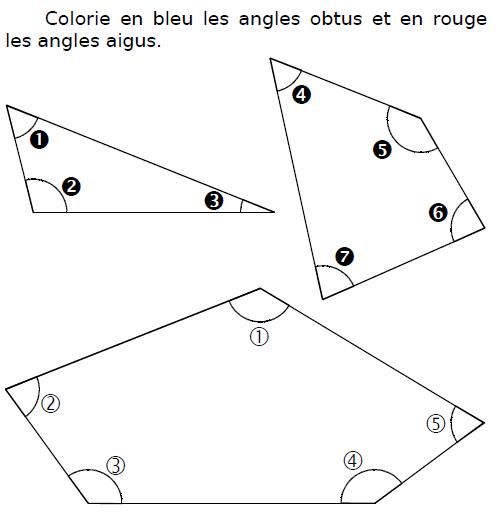 Angles obtus et angles aigus : exercices en CM2.