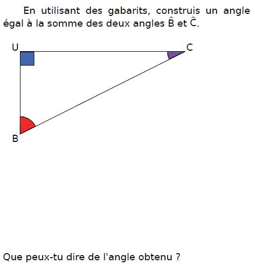 Construire un angle : exercices en CM2.