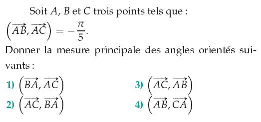 Mesure principale et vecteurs : exercices en 1ère S.