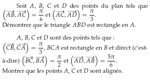 Démontrer qu'un triangle est rectangle : exercices en 1ère S.