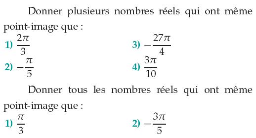Angles orientés et trigonométrie : exercices de maths 1ère ...