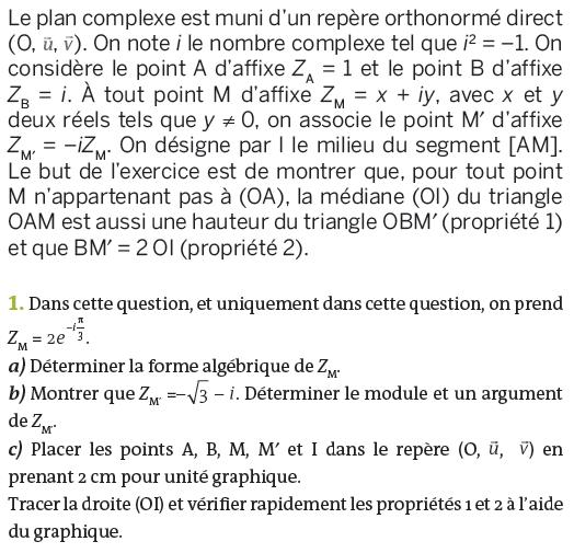 Nombres complexes et forme algébrique : exercices en terminale S.