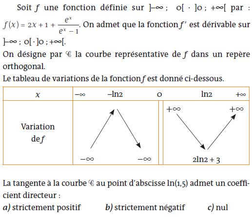 tableau de variation et fonction exponentielle : exercices en terminale S.
