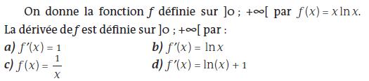 Dérivée d'une fonction exponentielle : exercices en terminale S.