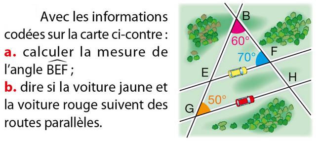 Informations codées sur une carte : exercices en 5ème.