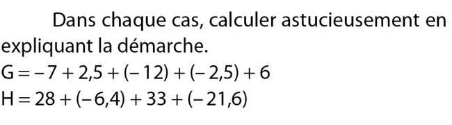 Calculer astucieusement : exercices en 5ème.