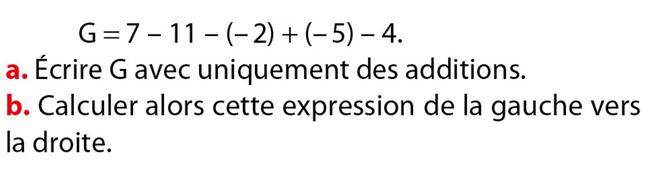 Calculs et nombres relatifs : exercices en 5ème.