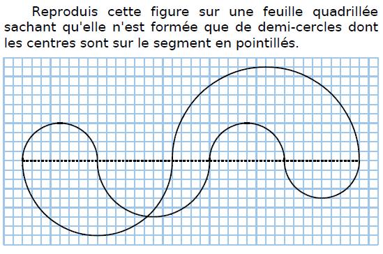 Reproduire et tracer une figure : exercices en CM2.