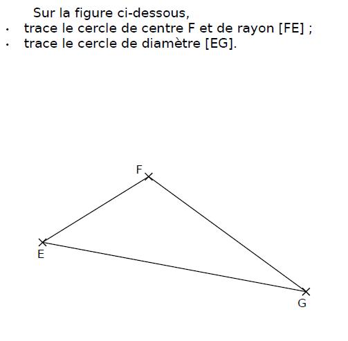 Tracer deux cercles : exercices en CM2.