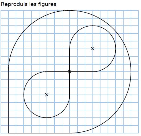 Reproduire une figure : exercices en CM2.