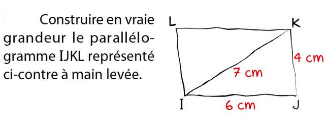 Construire un parallélogramme : exercices en 5ème.