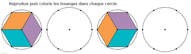 Reproduire des losanges : exercices en CM1.