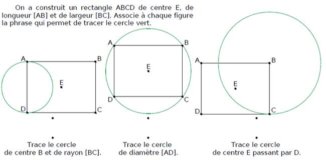 Tracer des cercles avec des rectangles : exercices en CM1.