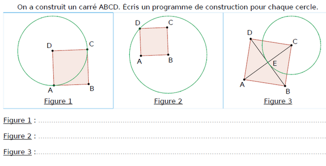 Un programme de construction : exercices en CM1.