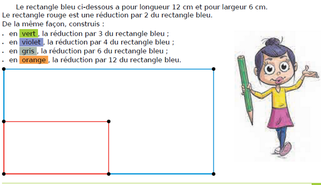 Construire des réductions de figures : exercices en CM1.