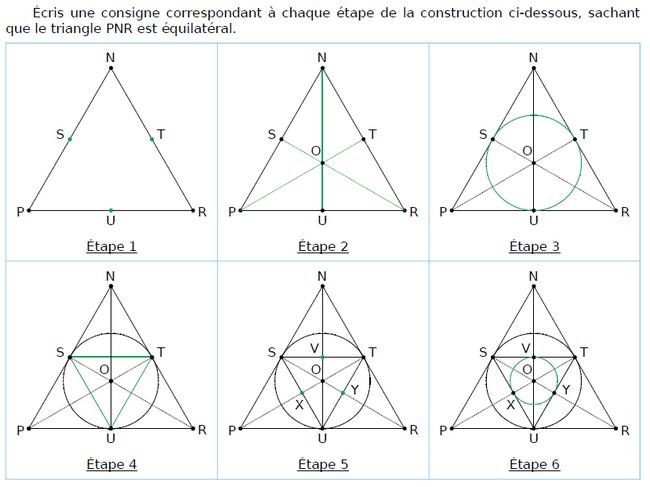 Constructions et consignes : exercices en CM1.