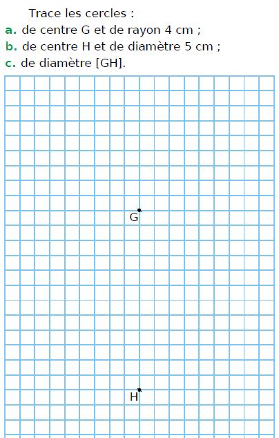 Tracer des cercles : exercices en CM1.