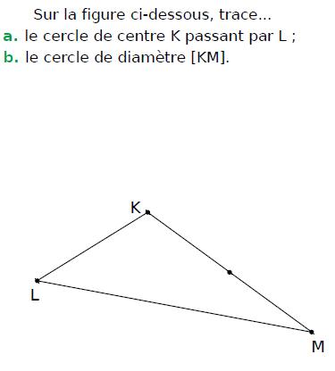 Tracer des cercles sur la figure : exercices en CM1.