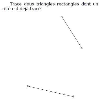 Tracer des triangles rectangles : exercices en CM1.