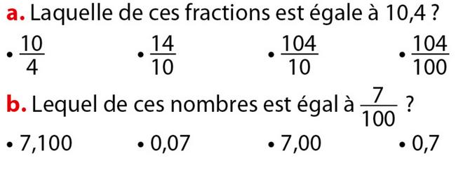 Comprendre l'écriture décimale : exercices en 6ème.
