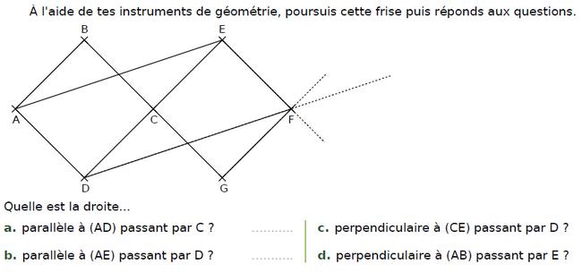 Utiliser le matériel de géométrie : exercices en CM2.