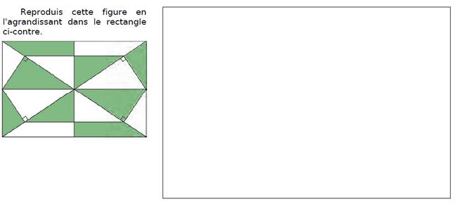 Reproduire cette figure : exercices en CM2.