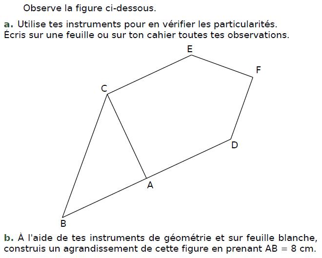 Utiliser des instruments de géométrie : exercices en CM2.