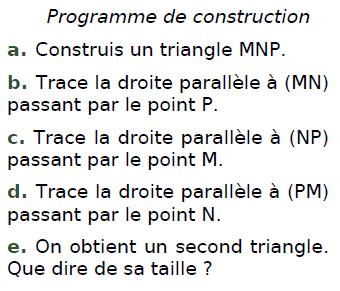 Programme de construction : exercices en CM2.