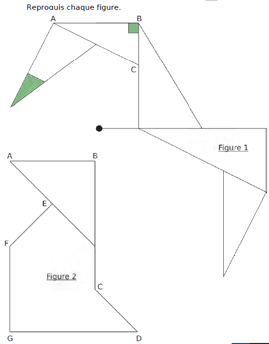 Reproduire chaque figure : exercices en CM2.