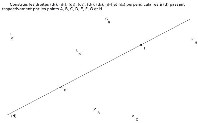 Construire des droites : exercices en CM2.
