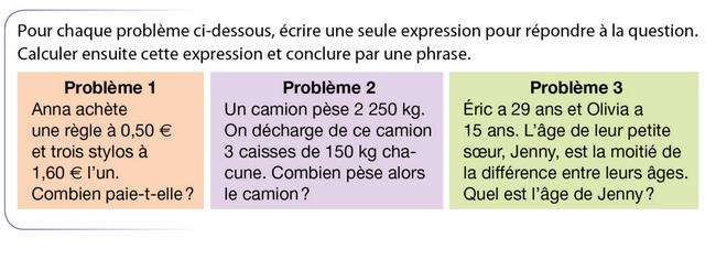 Résolution de problèmes : exercices en 5ème.